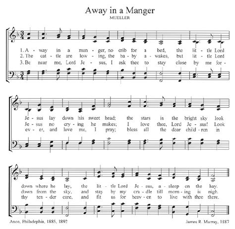 printable lyrics for away in a manger the center for church music songs and hymns
