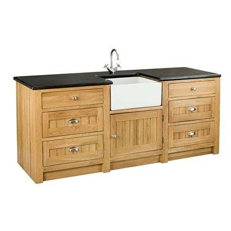 kitchen sinks with cabinets orchard oak 1 door 6 drawer sink cabinet 2130x665x900mm