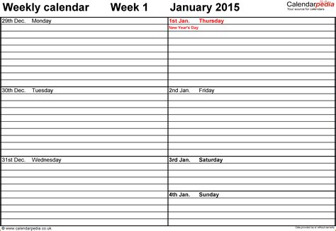 10 Free Weekly Printable Calendar Templates Lease Template Week To Week Rental Agreement Template