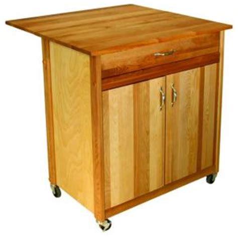 catskill craftsmen kitchen cart with butcher block