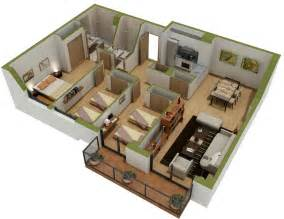 Home Layout Design by 25 Three Bedroom House Apartment Floor Plans