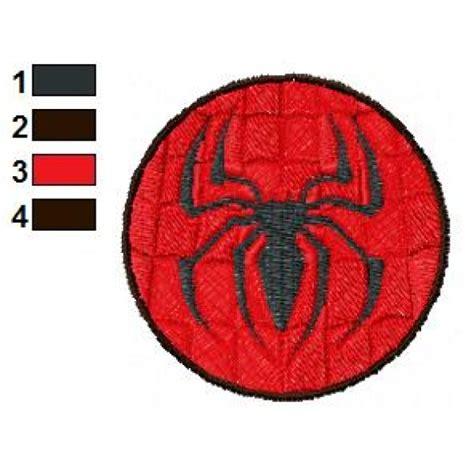 spiderman logo pattern spider man logo embroidery design