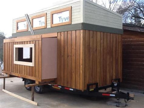 First Tiny House With An Rv Slide Out Feature Tiny House Pins