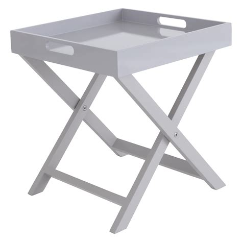 Folding Side Table Oken Grey Folding Side Table Buy Now At Habitat Uk