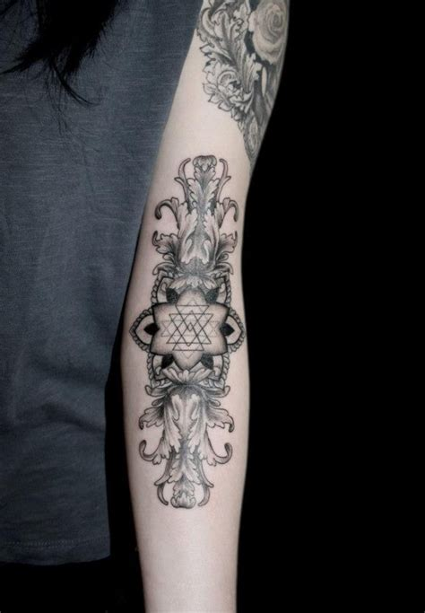 forearm armor tattoos geometric floral arm forearm tattoos