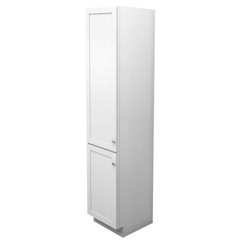 Kraftmaid Bathroom Cabinets Kraftmaid 18 In W X 88 1 2 In H X 21 In D Vanity Bathroom Linen Storage Tower Cabinet In Dove