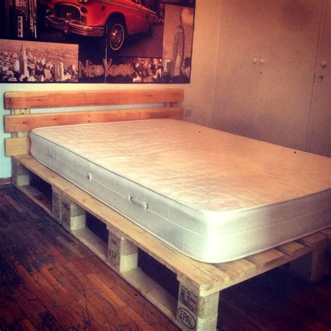 Bed Frame Made From Pallets Best 25 Pallet Platform Bed Ideas On Diy Bed Frame Bed Ideas And New Bed Designs