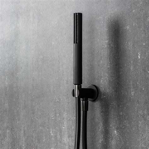 Black Shower by Black Showers Fantini Mare Handshower Integrated Wall