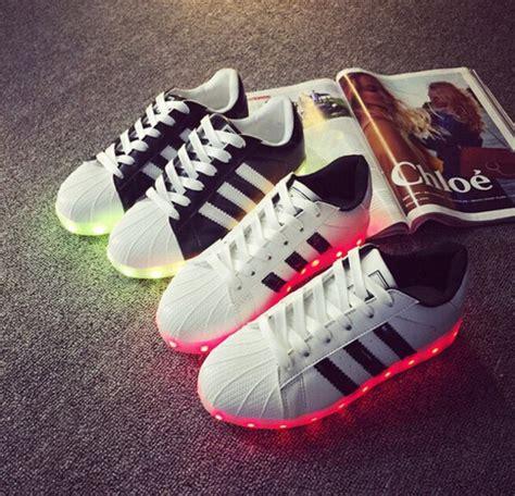 shoes led shoes adidas adidas superstars wheretoget