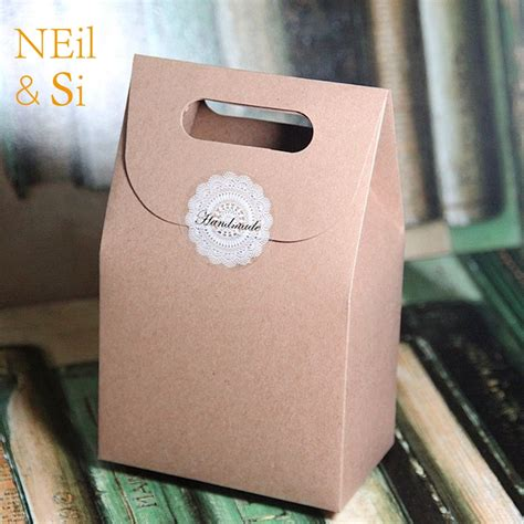 shipping white black brown handle gift box kraft