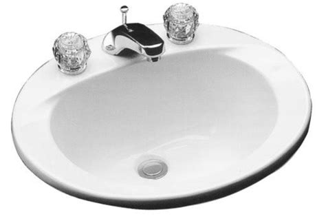 17 inch bathroom sink toto lt501 reliance commercial 20 x 17 inch drop in