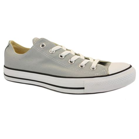 Sepatu Converse Chuck 2 Low Grey converse chuck all ox 136567c mens laced canvas trainers grey
