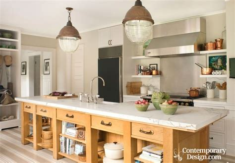 12 foot kitchen island mixing metals in home decor