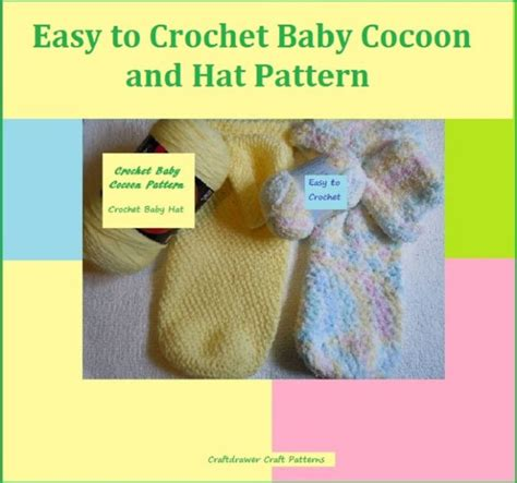 simple pattern books easy to crochet baby cocoon and hat pattern by craftdrawer