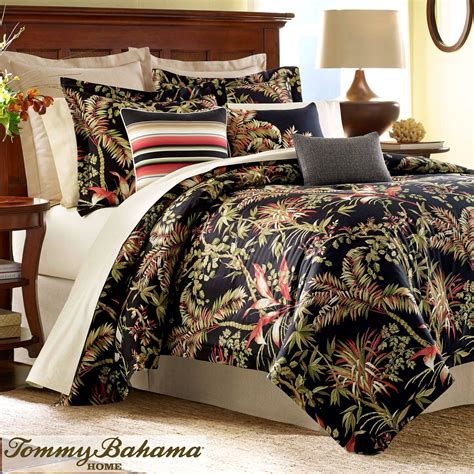 exotic comforters jungle drive black tropical comforter bedding by tommy bahama
