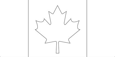 Canada Maple Leaf Outline by Flag Of Canada 2009 Clipart Etc