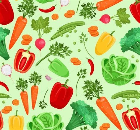 vegetables pattern wallpaper background for vegetarian menu patterns on creative market