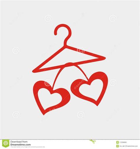 hanger with hearts royalty free stock photos image 17036858 frame hangers no 01 katie pertiet elements el863015