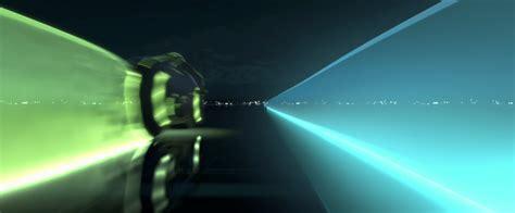 tron legacy light cycle race desktop wallpaper