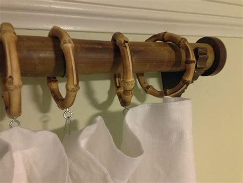bamboo drapery rings bamboo curtain rings with bamboo curtain rings set of 11