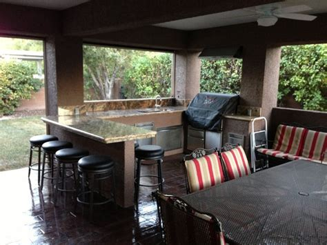 patio cover with bbq