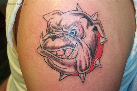 english bulldog tattoo flash