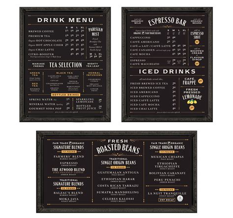 design coffee shop menu layout chad roberts design restaurants