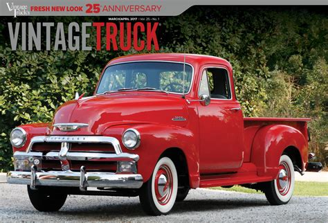 red christmas vintage pick ups for sale vintage truck s 25th anniversary brings new look 2 panel cover march april 2017