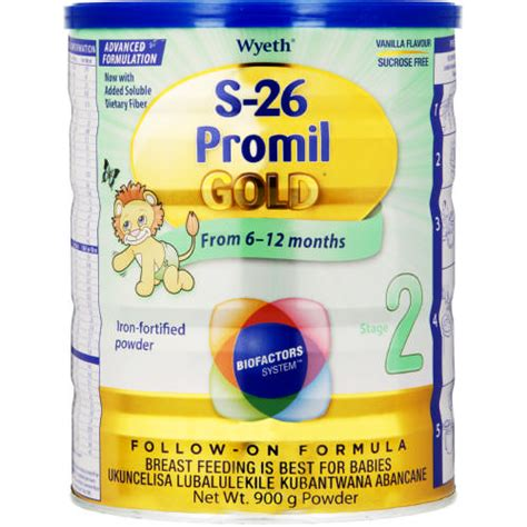 S26 Promil Gold 900 G s 26 promil gold stage 2 follow on formula vanilla 900g