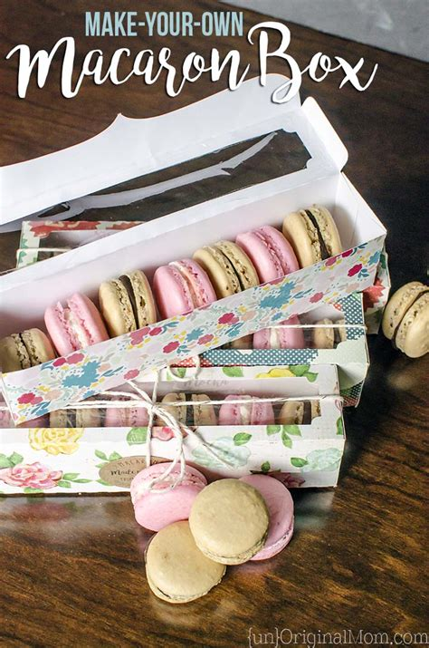 make your own macaron box unoriginal mom