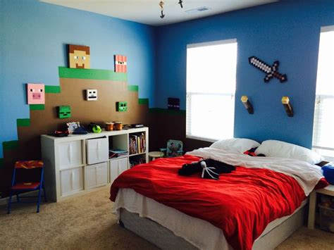 mine craft bedroom minecraft bedroom home diy pinterest