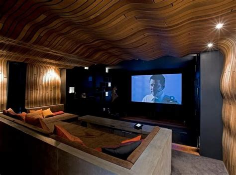 home theater decorating ideas ideas home theater design ideas with wall of wood home