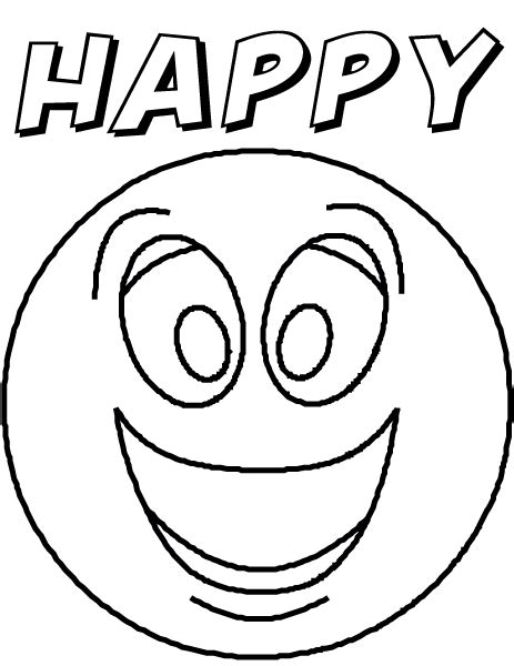 Free Coloring Pages Of Faces Of Feelings Feeling Faces Coloring Pages