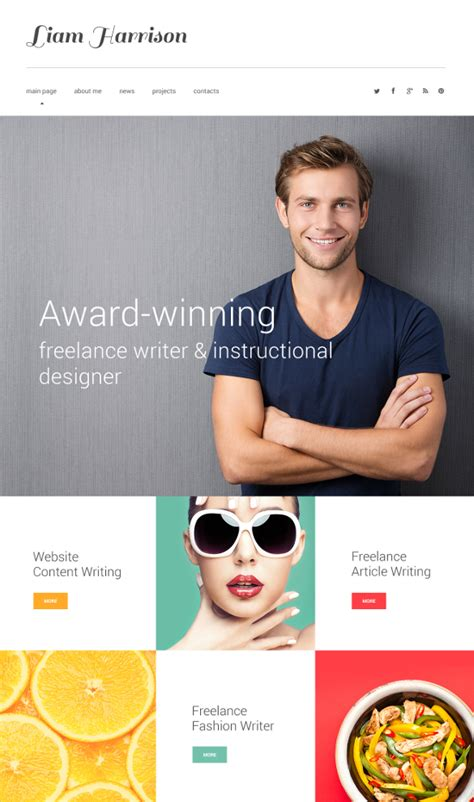 12 Most Useful Author Website Themes Templates Free Premium Templates Author Website Template