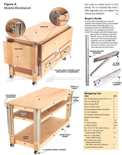 mobile plans mobile workbench plans woodarchivist