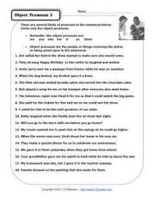 object pronouns 2 pronoun worksheets