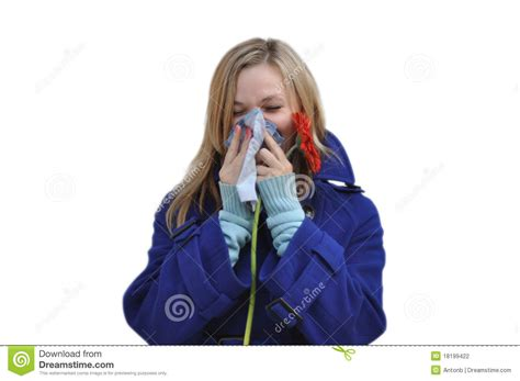with runny nose with a runny nose stock photography image 18199422