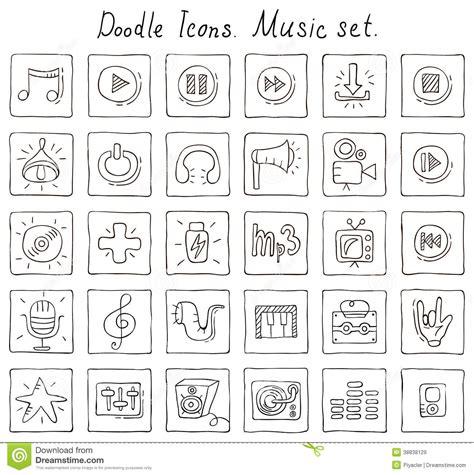 musical doodle free mp3 doodle vector cartoondealer 16381081