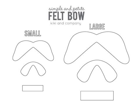 felt bow template simple and bow template for the of bows