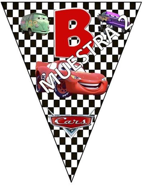 banderines de rayo mcqueen banderines cars bs 100 00 en mercado libre