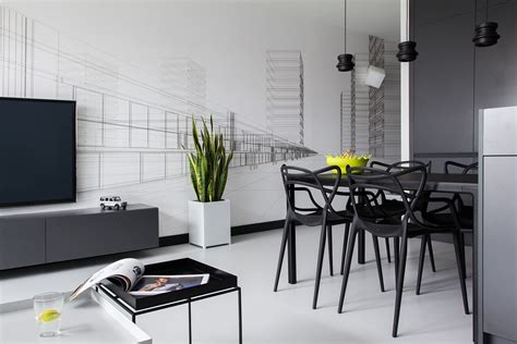 white apartment a modern black white apartment in poland design milk