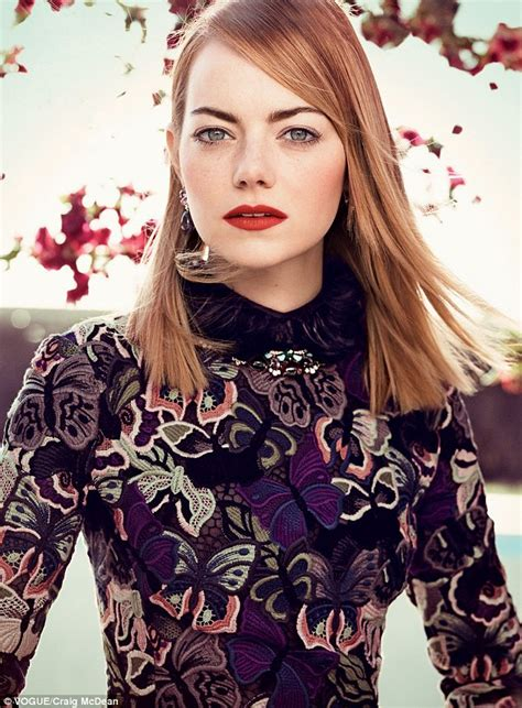 emma stone vogue cover emma stone opens up about relationship andrew garfield in