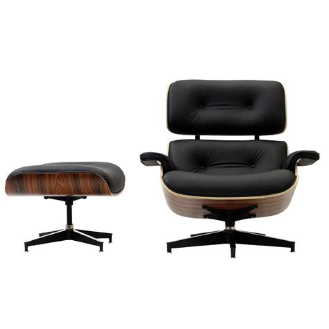 classic chair designs lexmod eaze lounge chair in black leather and palisander
