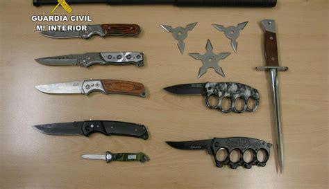 imagenes armas blancas intervenidas doce armas blancas prohibidas en el rastro de