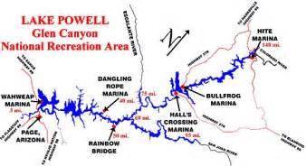 arizona mile marker map 1000 ideas about lake powell map on the