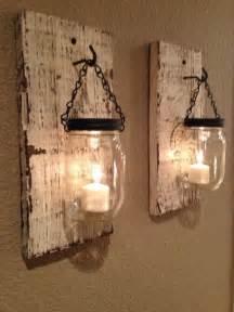 Barn Wood Home Decor by Rustic Barn Wood Mason Jar Candle Holders Set Of 2
