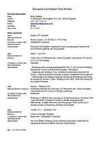 european curriculum vitae format exle european curriculum vitae format sles cv id 873990