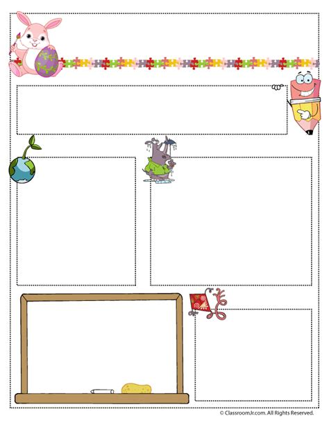 free april newsletter template april newsletter template classroom jr pre k