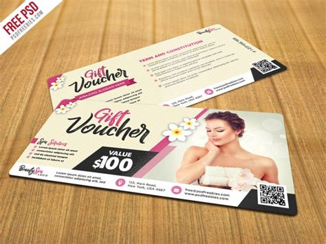 gift card templates psd and spa gift voucher psd template