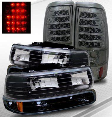 2002 chevy silverado tail lights chevy silverado 1999 2002 black headlights and smoked led
